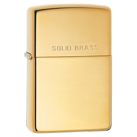 Zippo Polished Brass Engraved 254 solid brass