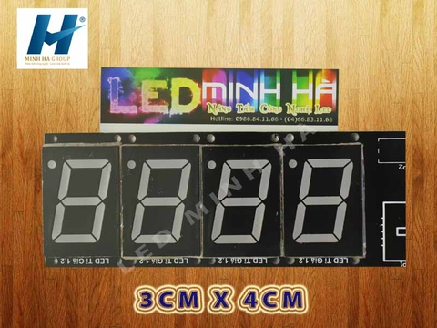 Led 7 thanh 3 x 4cm (1,2inch)
