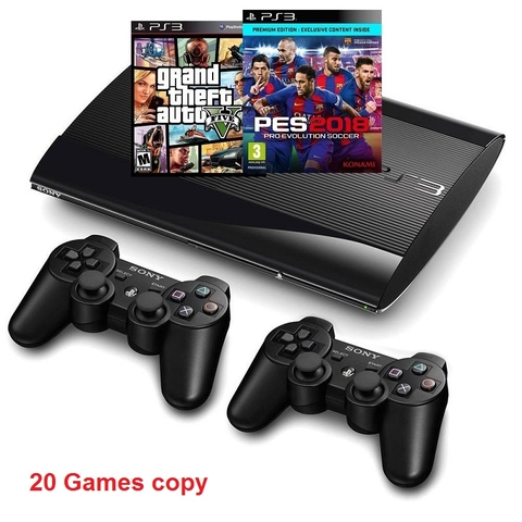 PS3 Super Slim 500GB full box, 2tay ( ĐÃ COP 20 GAMES )