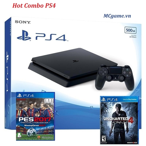 PS4 Slim 500GB, 2 games