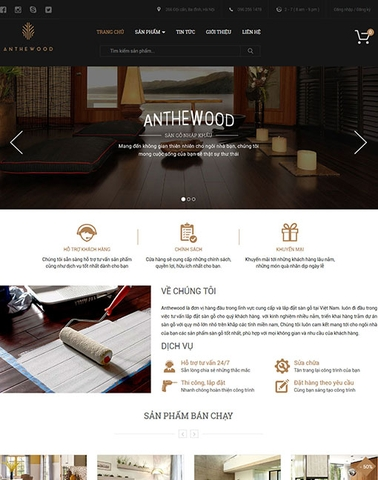 Giao diện web nội thất An The Wood