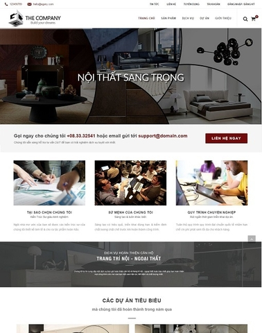 Giao diện web nội thất The Company