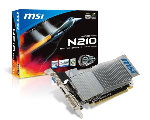 MSI N210-1GD3/LP (Geforce 210/ 1Gb/ DDR3/ 64Bit)