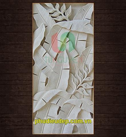 12 mẫu tranh phù điêu hoa lá trang trí nội ngoại thất tại HN