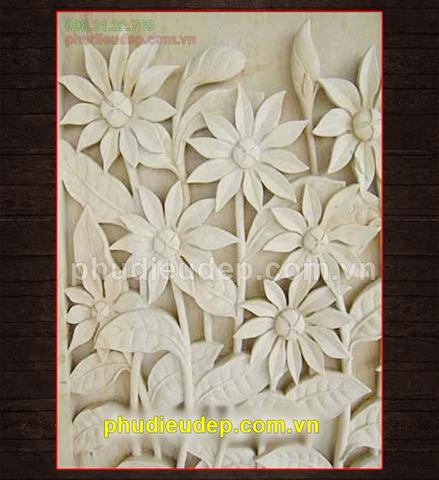 mẫu tranh phù điêu hoa lá đẹp nhất tại Hà Nội, Hà Nam, Hà Tĩnh