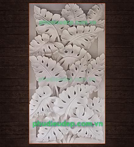 mẫu tranh phù điêu hoa lá composite (phù điêu lá ráy)