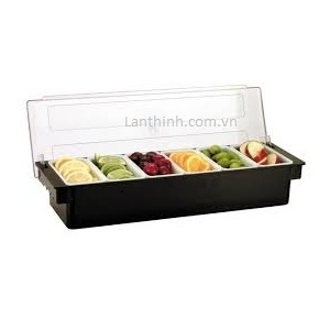 4-6 compartment condiment box. Item code : JW-B4B and JW-B6B