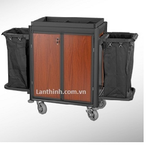 Aluminium maid cart with door, 3162431D