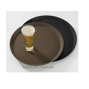 Non-slip serving tray round