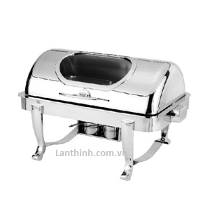 Silver Steel Oblong Chafing Dish -Visible(single pan) 9.7 litre- Item code: GB-KS682-1