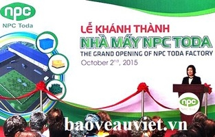 NPC Vina to organize the inauguration ceremony of Binh Duong factory