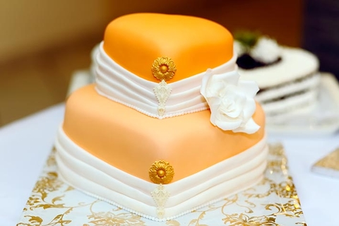 Wedding cake fondant photo