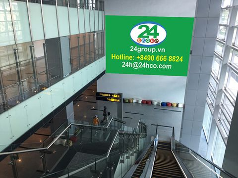 Advertising in International Departure - Da Nang Airport