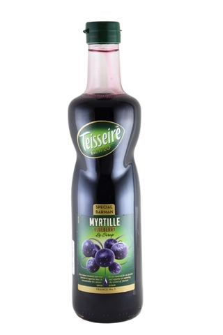 Syrup Teisseire Blueberry 700ml.
