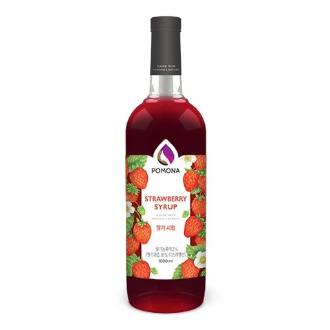 Pomona Strawberry Syrup 1000ml – Siro Dâu Tây