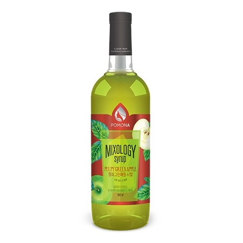 Pomona Pulpy Green Apple Syrup 1000ml – Siro Táo Xanh