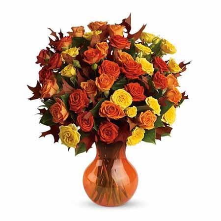 Fabulous Flirty Orange Roses Bouquet - SF156
