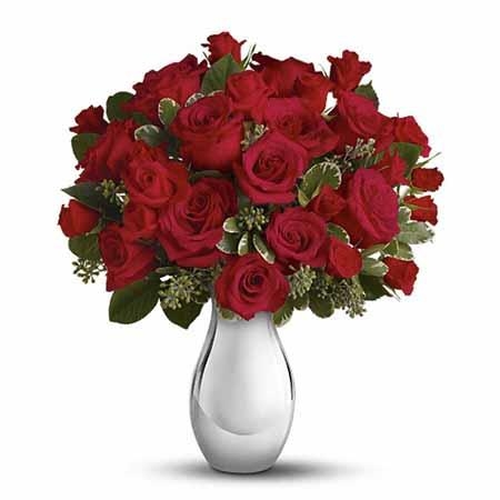 True Romance Bouquet with Red Roses - SF163