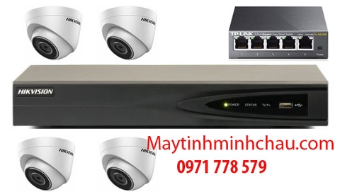 BỘ 4 CAMERA 2.0 IP DS-2CD1321-I