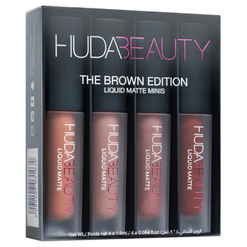SET SON HUDA BEAUTY LIQUID MATTE MINI BROWN EDITION