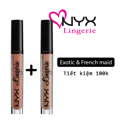 COMBO NYX LINGERIE - MÀU EXOTIC & FRENCH MAID