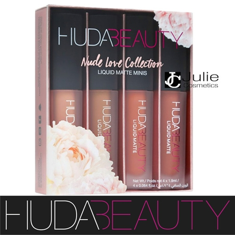 SET SON HUDA BEAUTY LIQUID MATTE MINIS NUDE LOVE COLLECTION