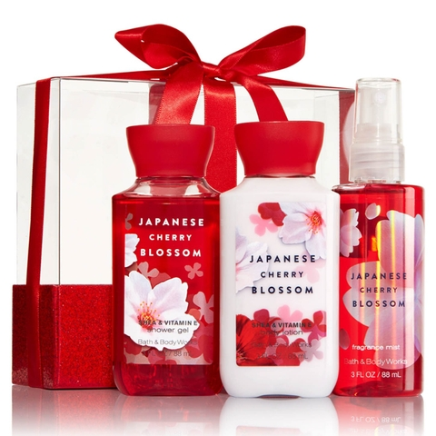 MINI GIFT SET JAPANESE CHERRY BLOSSOM  BATH & BODY WORKS