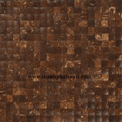Coconut shell wall covering