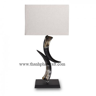 Double Cow Horn Lamp