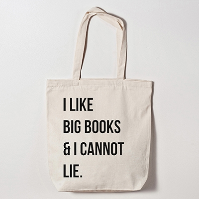 i like big books and i cannot lie Canvas tote Bag