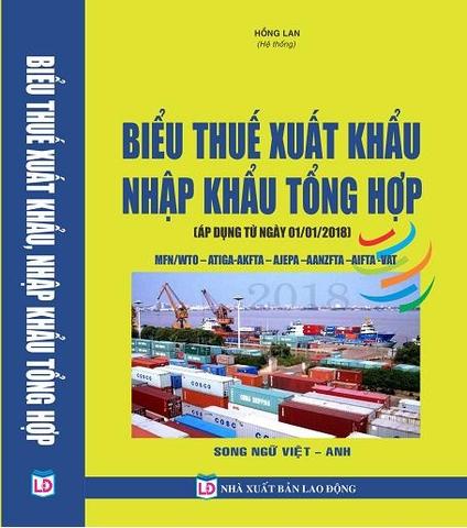Kết quả hình ảnh cho Biểu thuế suất hàng hóa xuất khẩu, nhập khẩu 2018