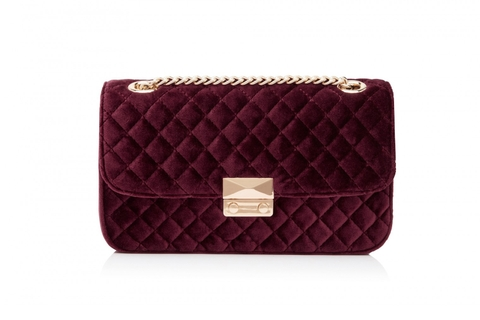 FOREVER NEW - BAG BERRY VELVET