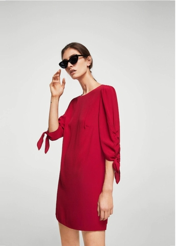 MANGO VESTIDO PASITO RED DRESS