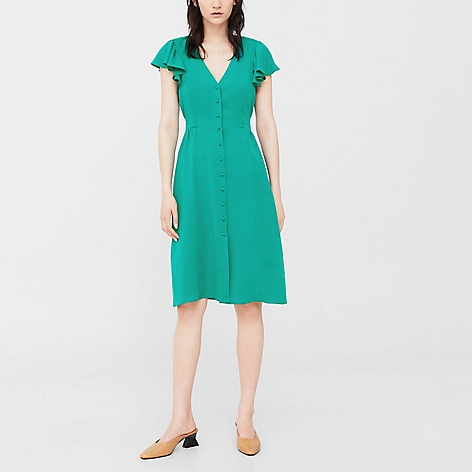 Mango - Vestido Song Green Dress