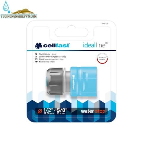 Cút nối nhanh Stop cellfast ideal line plus 21mm