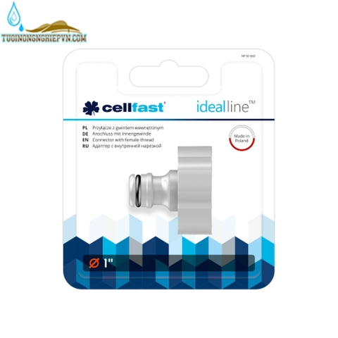 Cút nối ren trong ideal line cellfast 1'' (34mm)