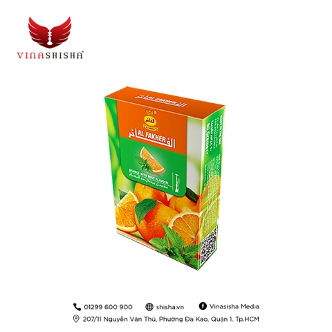 Al Fakher Tobacco 50g - Orange With Mint (Hương Cam The Mát)