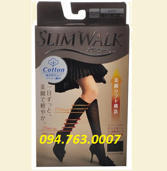 SLIMWALK Knee Stocking - Black