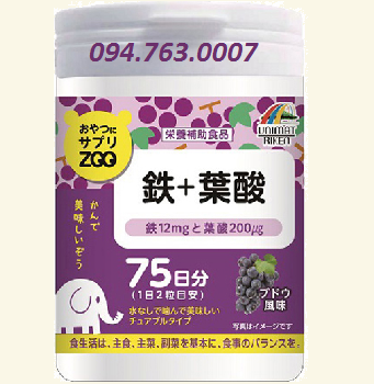 Iron and Acid Folic Supplement Drops - Grapes flavor