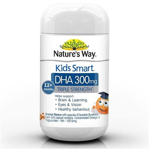 Kẹo Nature's Way Kids Smart DHA 300mg 12m+