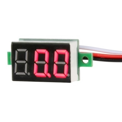 DC digital voltmeter 0.36-inch LED Red 3 wire