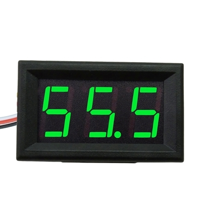 DIGITAL VOLTMETER 0-200V Green