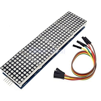 MAX7219 dot matrix module LED display 8*32 Blue