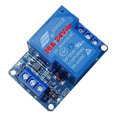30A 24Vdc 1 relay module with optocoupler HTC