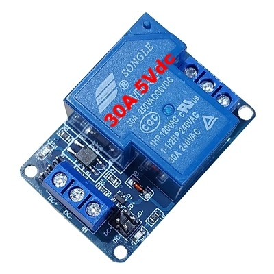 30A 5Vdc 1 relay module with optocoupler HTC