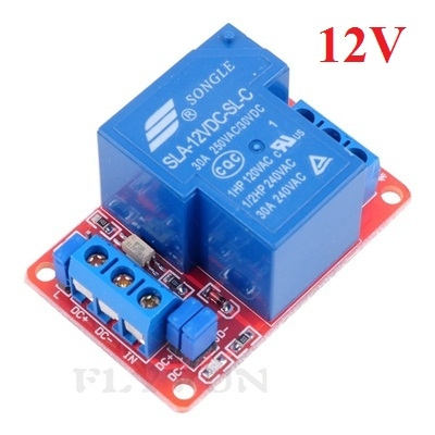 30A -12Vdc relay module with optocoupler