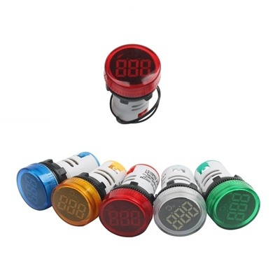 LED display temperature 22MM meter RED