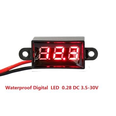 Waterproof Digital  LED  0.28 DC 3.5-30V Red