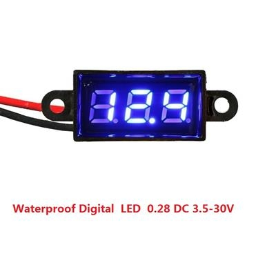 Waterproof Digital  LED  0.28 DC 3.5-30V Blue