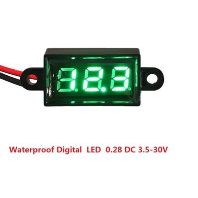 Waterproof Digital  LED  0.28 DC 3.5-30V Green